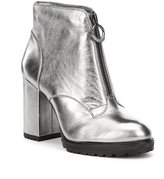 GB Outer-Space Leather Front Zip Booties