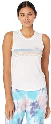 Spiritual Gangster Namaste Muscle Tank Top (Stone) Women's Clothing
