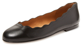 French Sole Teardrop Leather Ballet Flat