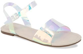 Chase & Chloe George Clear Strap Sandal