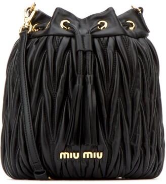 Miu Miu Matelasse Tassel Bucket Bag