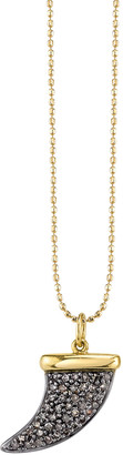 Sydney Evan 14k Medium Brown Diamond Horn Necklace