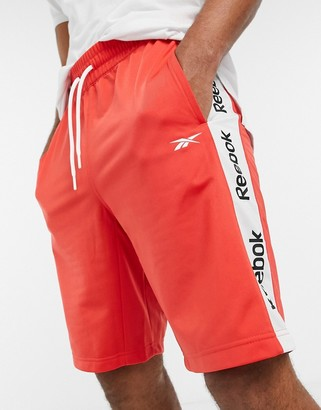 Reebok linear logo shorts in radiant red