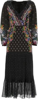 Saloni Floral Ruffle Maxi Dress