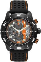 Citizen Black & Orange Rubber-Strap Adrenaline Bracelet Watch - Men