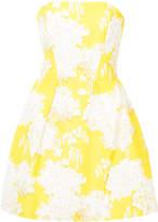 Monique Lhuillier floral strapless dress