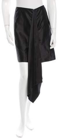 Maison Rabih Kayrouz Draped Satin Skirt w/ Tags