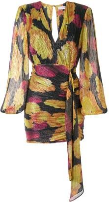 Rebecca Vallance Astoria metallic mini dress