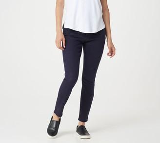 H by Halston Petite Premier Denim Overdye Ankle Jeans