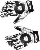 Generic Bicycle Full Finger Warm Bike Sports Gloves 3.5 inch Black + White