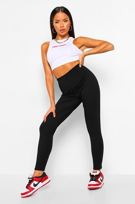 boohoo Pintuck Front Treggings