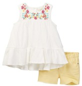 Jessica Simpson Embroidered Tank & Short 2-Piece Set (Toddler & Little Girls)