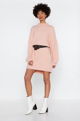 Nasty Gal Womens Lose Touch Oversized Sweater Dress - Apricot