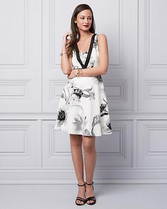 Le Château Floral Print Scuba Knit Cocktail Dress