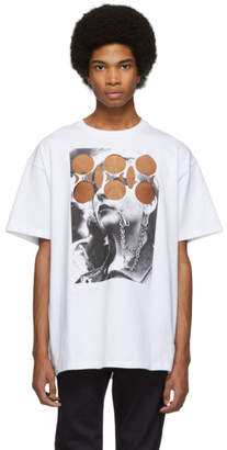 Raf Simons White Beer Cut-Out T-Shirt