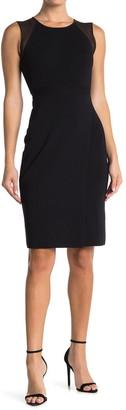 Reiss Leila Sheer Sleeve Knitted Dress