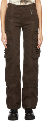 Reese Cooper Brown Canvas Cargo Trousers