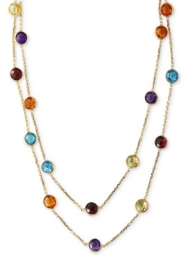 "Effy Multistone Long 43"" Strand Necklace (28-9/10 ct. t.w.) in 14k Gold"