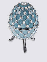 M&S Collection Gustavs Egg Diamanté Encrusted Trinket Box