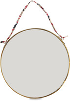 Nkuku Kiko Round Mirror - Antique Brass - Small