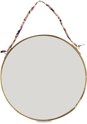 Nkuku Kiko Round Mirror - Antique Brass - Small