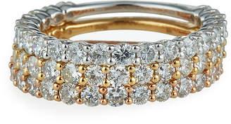 Diana M Tricolor 14k Diamond Rings, Set of 3, Size 6
