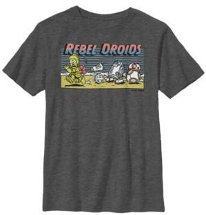 Star Wars Big Boys Cartoon Rebel Droids Short Sleeve T-Shirt