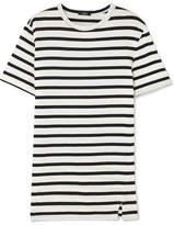 Bassike Striped Cotton-jersey T-shirt - Black