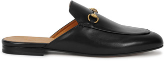 Gucci Princetown Black Leather Loafers