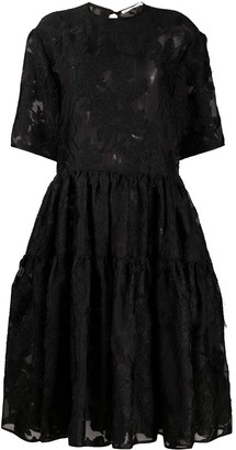 Cecilie Bahnsen Lace Embroidered Flared Dress