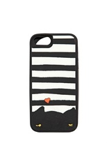 Striped Cat Rubber I Phone 5 Case