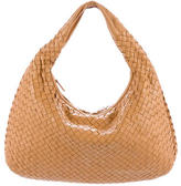 Bottega Veneta Medium Embossed Intrecciato Veneta Hobo