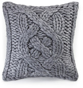 "UGG Oversized Knit Wool Blend Grey Pillow - 24"" x 24"""