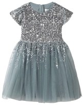 Wild & Gorgeous Silver Sequin Degas Moon Dress