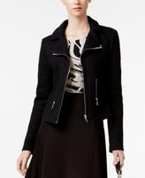 Alfani Petite Textured Moto Jacket, Created for Macy's