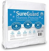 Crib Size SureGuard Mattress Protector - 100% Waterproof, Hypoallergenic - Premium Fitted Cotton Terry Cover - 10 Year Warranty
