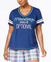 Jenni by Jennifer Moore Plus Size Graphic-Print Pajama T-Shirt, Created for Macy's