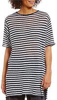 Eileen Fisher Bateau Neck Short Sleeve Tunic