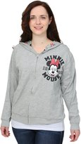 Freeze Juniors womens Minnie Mouse Reversible Juniors Hooded Sweatshirt