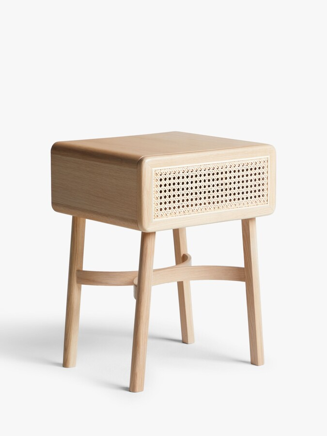 John Lewis & Partners Rattan Storage Bedside Table