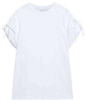 3.1 Phillip Lim Tie-detailed Cotton-jersey T-shirt