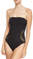 Lise Charmel Saga Keniane Bandeau One-Piece Swimsuit, Black