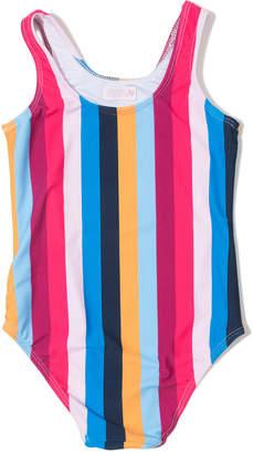 Shoshanna Rainbow Stripe One-Piece Swimsuit, Size 6-14