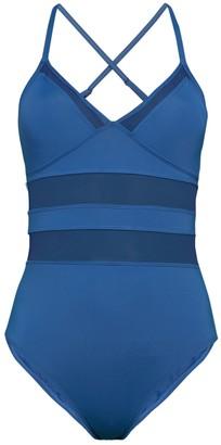 Bleu Rod Beattie Mesh 1-Piece Swimsuit