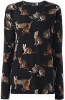 Dolce & Gabbana bengal cat print blouse