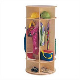 Jonti-Craft 1 Tier 5-Sections Revolving Coat Locker