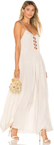 Indah Imagine Maxi Dress in Beige