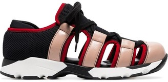 Marni multicoloured leather and mesh cutout sneakers