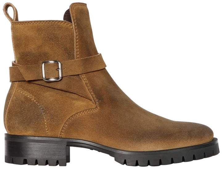 DSQUARED2 Suede Leather Boots W/ Buckle