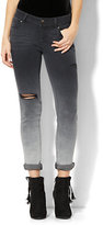 New York & Co. Soho Jeans - Destroyed Boyfriend - Black Ombré Wash